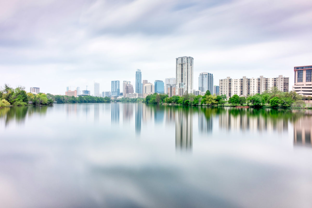 Austin Skyline Reflected in Lady Bird Lake