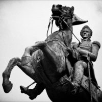 Photo of a General Andrew Jackson sculpture in Nashville TN