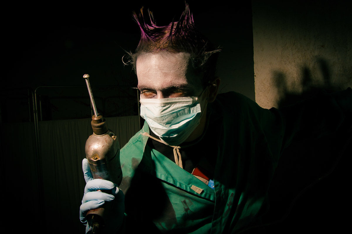 Haunted House Dentist with a Drill