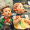 Mickey and Mallory - Photograph of a Hummel Boy and Girl Figurines