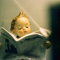 Hummel Boy Figurine Reading Newspaper (#184 Latest News)