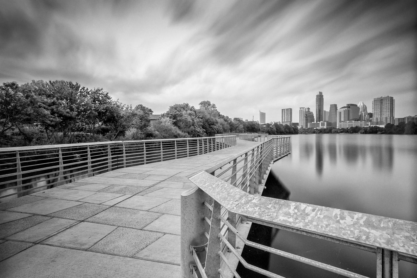 Austin Skyline from the Lady Bird Lake Boardwalk - Black ...