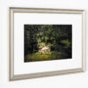 Camouflage Chair Framed with Silver
