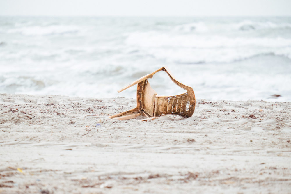 Nomadic Chair (beach trash)