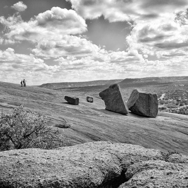 Out There and Beyond - Enchanted Rock Black and White Photo