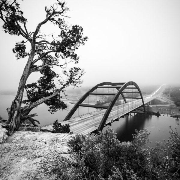 The Pennybacker (360) Bridge Facing the Fog