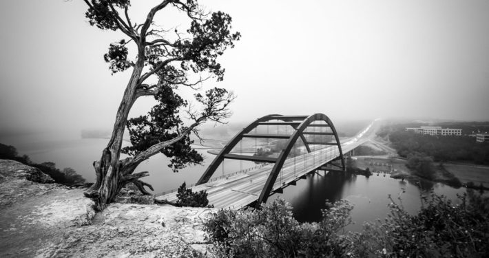 The Pennybacker (360) Bridge Facing the Fog