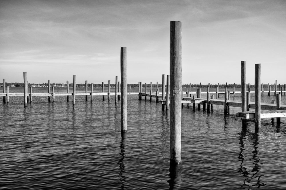 Photo of Pirates Cove Pier in Black and White