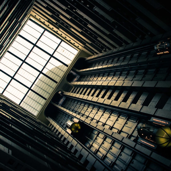 Industrial and Science Fiction Like Photo of Elevators
