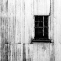 The Window or a Whiskey Distillery in Black and White